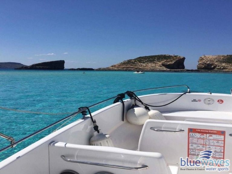 Speed Boat view in Blue Lagoon
