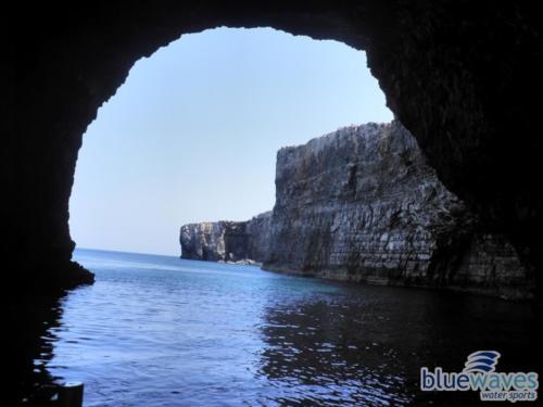 Huge cave in Comino