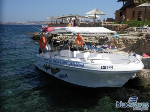 250hp speedboat to Comino and around Malta and Gozo