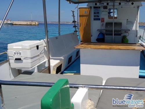 Luzzu boat interior