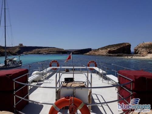 Ample space for Comino boat trips
