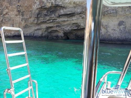 Safe ladder available during boat trips to Comino