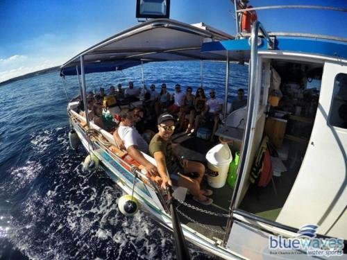 Luzzu boat trip to Comino and the Blue lagoon